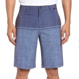 Travis Mathew Peale hybrid shorts blue